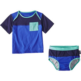 Patagonia Infants Little Sol Swim Set Imperial Blue